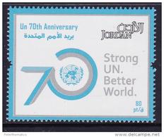 JORDAN, 2015, MNH,UN, UNITED NATIONS 70TH ANNIVERSARY,1v - UNO