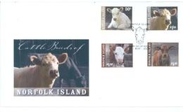 NORFOLK ISLAND - FDC - 14.5.2008 - BEEF VACHE   - Yv 955-958 - Lot 17571 - Ile Norfolk