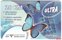 Bosnia Sarajevo - ULTRA PREPAID CARD (recharge) 20 KM - Bosnia