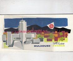 68- MULHOUSE- ALSACE- DEPLIANT TOURISTIQUE -AIR FRANCE CARAVELLE AEROPORT-THEATRE MUSEE-PALAIS SPORTS-PLAN - Dépliants Touristiques