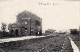 60 // CATENOY - LA GARE EN 1918 - Andere Gemeenten
