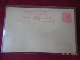 STE LUCIE Possession Britannique..Entier Postal - Briefmarken
