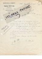 95 - Val-d'oise - ARGENTEUIL - Facture PETIT - Menuiserie, Parquets - 1920 - REF 100C - 1900 – 1949
