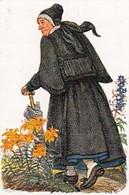 Costumes Folkloriques Allemands - N°161 Frau In Abendmahlstracht - Cartes De Cigarettes Allemandes HAUS NEUERBURG 1932 - Cigarette Cards