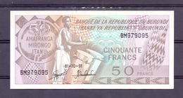 Burundi  50 Fr 1991  Unc - Autres - Afrique