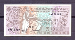 Burundi  50 Fr 1991  Unc - Billets