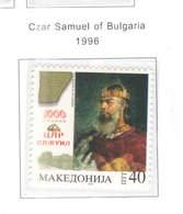 Macedonia PO 1996 Zar Samuele Di Bulgaria  Scott.72 See Scan On Scott.Page - Macedonia