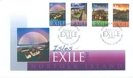 NORFOLK ISLAND - FDC - 27.10.2008 -  ISLES OF EXILE - Yv 974-977 - Lot 17575 - Ile Norfolk