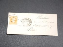 FRANCE - Lettre De Paris Pour Paris En 1857, Affranchissement Napoléon - L 20214 - Postmark Collection (Covers)
