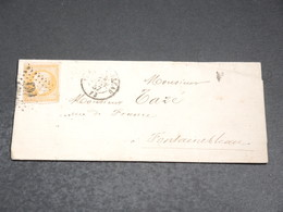 FRANCE - Lettre De Fontainebleau Pour Fontainebleau En 1857, Affranchissement Napoléon - L 20215 - Postmark Collection (Covers)