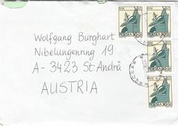 POLSKA - 4 Fach MEF Auf Brief Mit Inhalt Gel.v. Polen > St.Andrä, Gebrauchsspuren - Polen