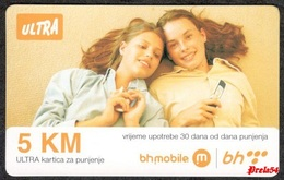 Bosnia Sarajevo - ULTRA PREPAID CARD (recharge) 5 KM Typ I - Bosnia