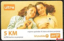 Bosnia Sarajevo - ULTRA PREPAID CARD (recharge) 5 KM Typ II - Bosnia