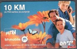 Bosnia Sarajevo - ULTRA PREPAID CARD (recharge) 10 KM Typ I - Bosnia