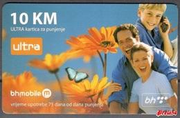 Bosnia Sarajevo - ULTRA PREPAID CARD (recharge) 10 KM Typ II - Bosnia