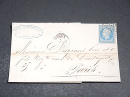 FRANCE - Lettre De Roubaix Pour Paris En 1859 , Affranchissement Napoléon - L 20223 - 1849-1876: Periodo Classico