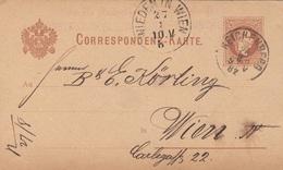 BÖHMEN 1882 - 2 Kreuzer Ganzsache Auf Pk Gel.v. Reichenberg > Wien - Böhmen Und Mähren