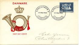 Denmark FDC 27-5-1963 100th Anniversary UPU Congress In Paris 1863 With Cachet And Address (Lumogen) - U.P.U.