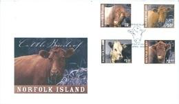 NORFOLK ISLAND - FDC - 4.2009 -  BEEF - Yv 987-990 -  Lot 17578 - Ile Norfolk