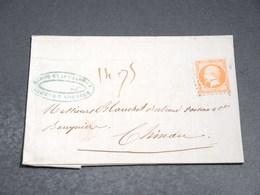 FRANCE - Lettre De Fontenay Le Comte Pour Chinon En 1857 , Affranchissement Napoléon - L 20227 - Marcophilie (Lettres)