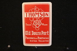 Playing Cards / Carte A Jouer / 1 Dos De Cartes Avec Publicité /Thomson,Portugal Porto Old Postcard Douro Port - Playing Cards