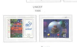 Macedonia PO 1996 Unicef.  Scott.86+87 See Scan On Scott.Page - Macedonia