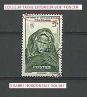 VARIÉTÉS 1906 / 1944 FEMME 5 F MAURITANIE OBLITÉRÉ - Oblitérés