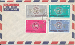 Uganda, Kenya & Tanzania Air Mail Cover With Complete Set UIT Nairobi 1965 - Kenya, Uganda & Tanganyika