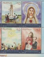 PHILIPPINES, 2017, MNH, CHRISTIANITY, APPARITION OF LADY FATIMA, 4v - Christianity