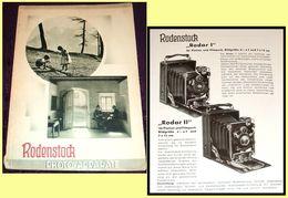 1935 Rodenstock Kameras Und Objectives, Camera & Lens Vintage Advertising Brochure - Publicités