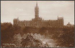 University, Glasgow, C.1920s - RP Postcard - Lanarkshire / Glasgow