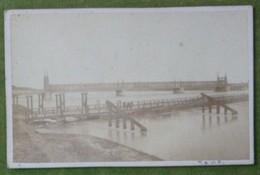 Petite Photo - Pont Du Chemin De Fer Strasbourg-Kehl, Vers 1880-90 - Antiche (ante 1900)