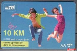 Bosnia Telecom Sarajevo - ULTRA PREPAID CARD (recharge) 10 KM - Bosnia