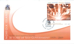 NORFOLK ISLAND - FDC - 19.8.2009 -  30 YEARS OF SELF-GOVERNMENT - Yv 1004 - Lot 17582 - Ile Norfolk
