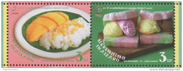 THAILAND ,2015,MNH, JOINT ISSUE WITH SINGAPORE, DESSERTS, FRUIT, MANGO, RICE, ICE CREAM SANDWICH, 2v - Joint Issues