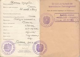 ÖSTERREICH IDENTITÄTSAUSWEIS Ausgestellt 1953 - Historische Dokumente