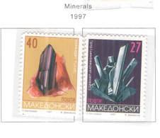 Macedonia PO 1997 Minerali Scott.106+107+See Scan On Scott.Page - Macedonia