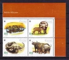 2017-0571 Guinea Bissau 2002 WWF African Buffalo Complete Set Mi 2009-12 MNH ** - Ongebruikt