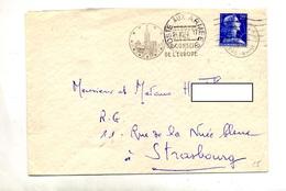 Lettre Flamme Muette Poste Aux Armees + Strasbourg Conseil Sur Muller - Marcofilie (Brieven)