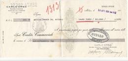 ITALIEN 1931 - Spesenrechnung? Bank Stempel CREDIT COM.MILANO - Steuermarken