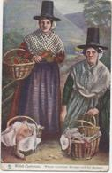 TUCKS OILETTE WELSH COSTUMES - WOMEN OF TO MARKET - With Good Pentre Pontypridd Postmark - Wales
