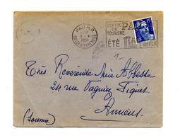 Lettre Flamme Pau Tourisme  Chateau Sur Gandon - Storia Postale