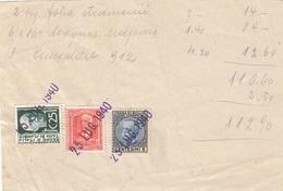ITALIEN 1940 - 5 + 25 C + 2 L Auf Briefstück - 1900-44 Victor Emmanuel III.