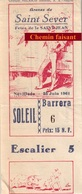 Billet De Corrida Du 25/06/1961 Arènes De SAINT-SEVER 40 - Scans Recto-verso - Tickets D'entrée
