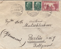 ITALIEN 1932 - 2x25 C + 75 C Auf Brief Bolzano > Berlin - 1900-44 Victor Emmanuel III.