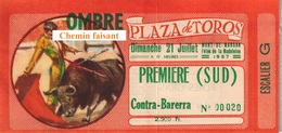 Billet De Corrida Du 21/07/1961 Arènes De MONT-DE-MARSAN 40 - Scans Recto-verso - Tickets D'entrée