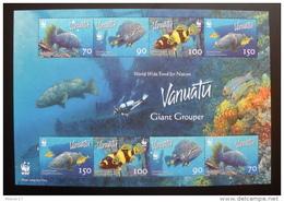 VANUATU    NEUF Sans Charnière   N° B.F.  58      N**   POISSONS  LOCHES GEANTES  W W F - Vanuatu (1980-...)
