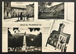 Saluti Da Fiuminata Macerata Viaggiata 1957 Ma Francobollo Asportato Cod.c.2048 - Macerata