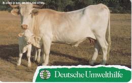 O 646 TARJETA DE ALEMANIA DE UNA VACA CON SU CRIA TIRADA 1100  (NUEVA-MINT)  DEUTSCHE UMWELTHILFE - Alemania