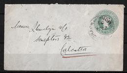 India-1899 QV 1/2 Anna Green PS Letter Makarpura Cover To Calcutta - Enveloppes
